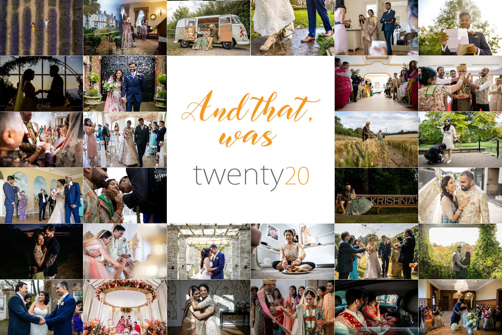 Best of 2020 wedding photographs header