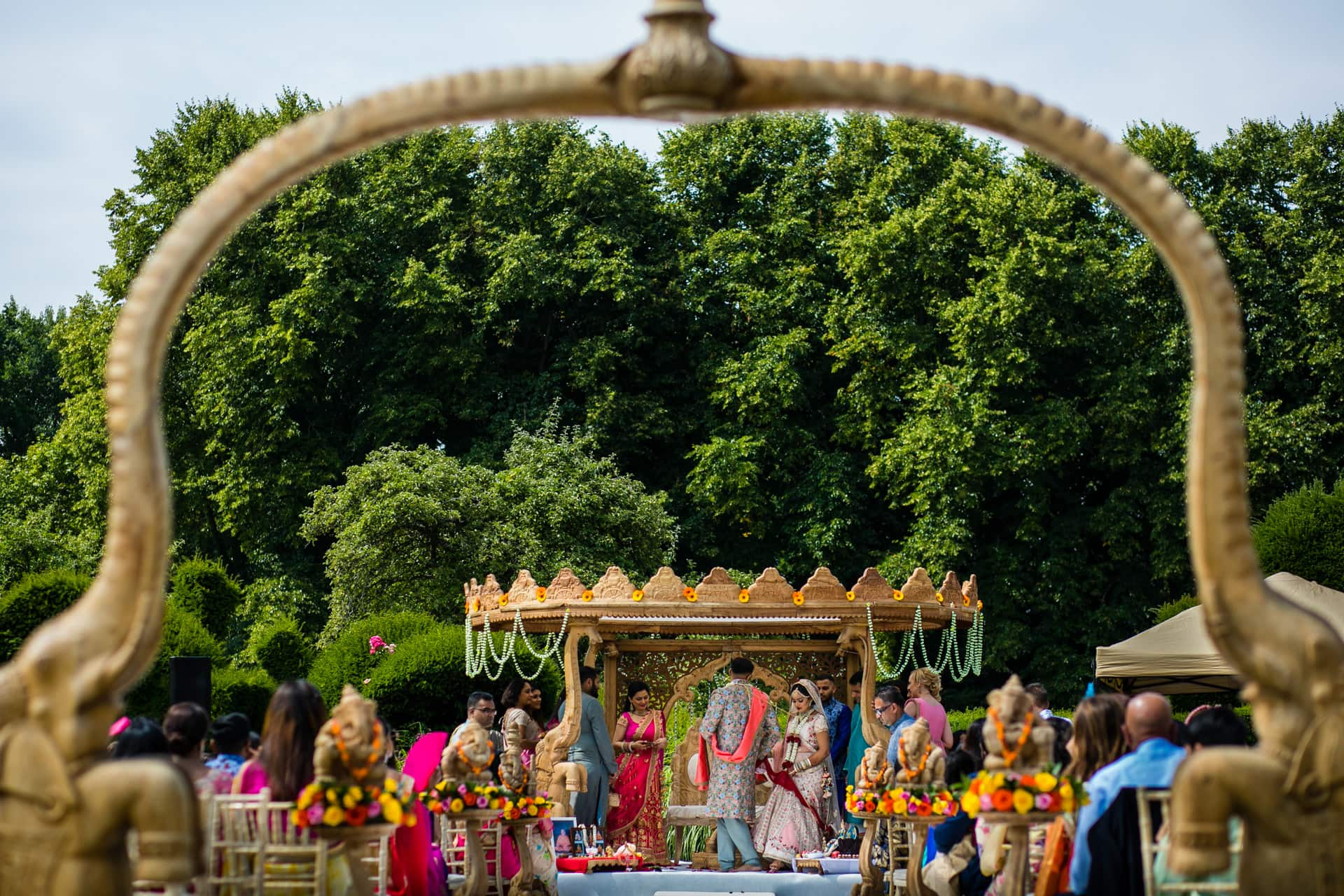 Jasmine and Nik's Hindu wedding ceremony at The Manor, Weston On The Green Country House