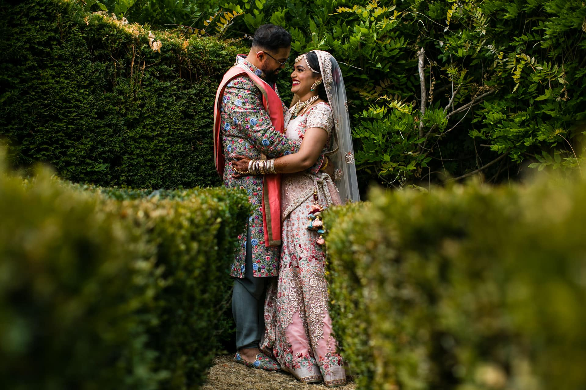 Wedding portrait at The Manor, Weston on the green country house