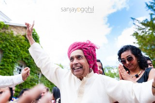 Hindu Wedding guest dancing