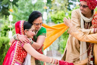 Mother of Bride hugging