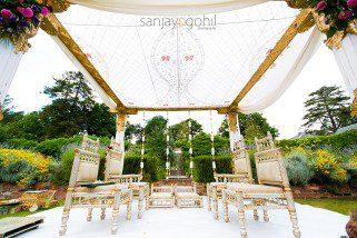 Hindu Wedding Mandap by Gayatri Weddings