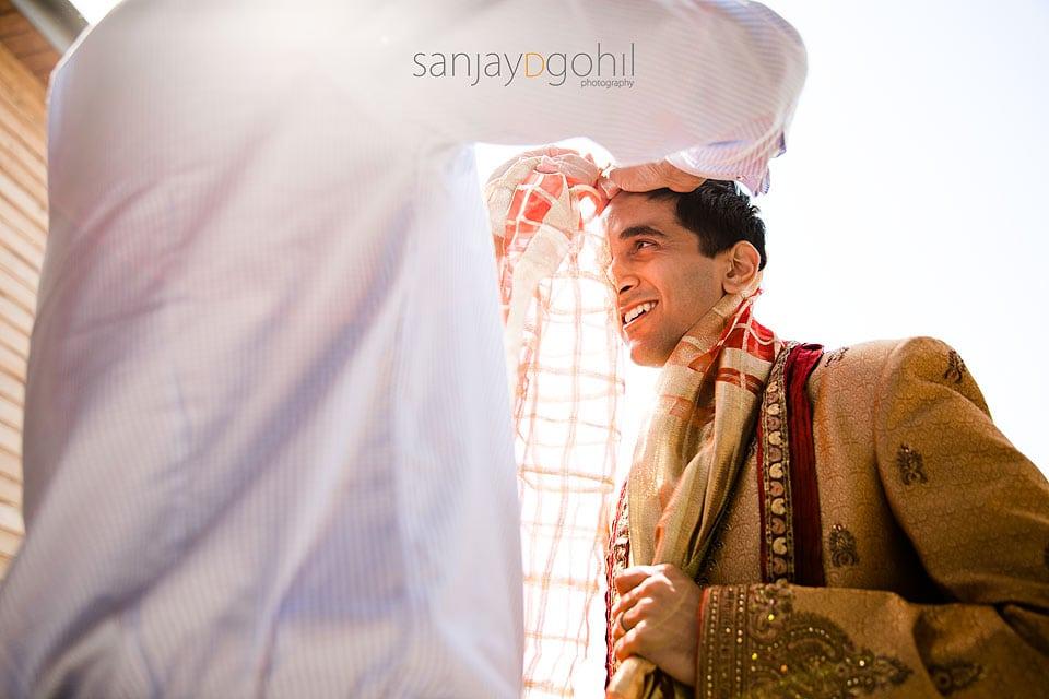 Asian Wedding Groom getting ready