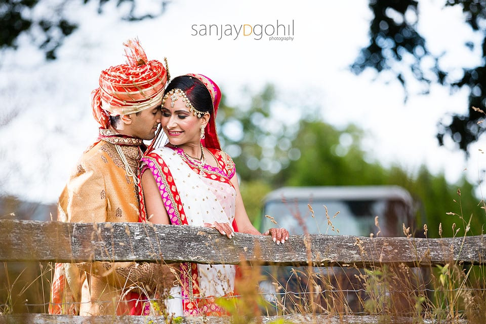 Asian Wedding portrait at Northbrook Park
