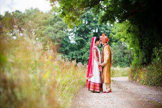 Asian Wedding portrait at Northbrook Park