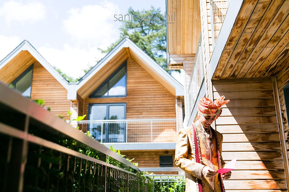 Hindu Wedding groom at Northbrook Park