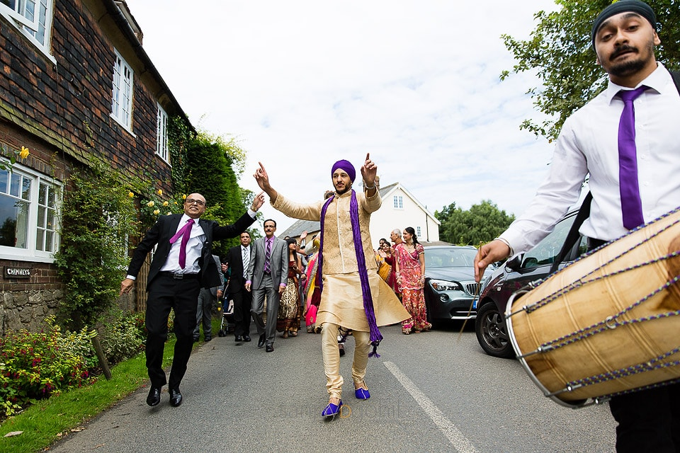 Arrival of Asian Wedding groom