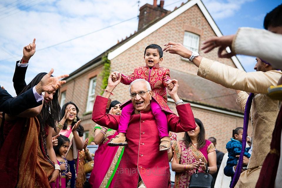 Hindu Wedding guests dancing