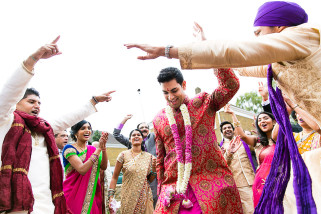 Asian Wedding groom dancing