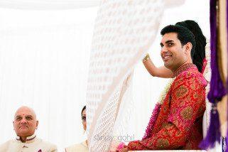 Asian wedding groom being the antarpath