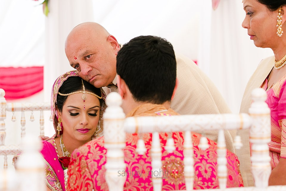 Father and daughter during Hindu Wedding ceremony