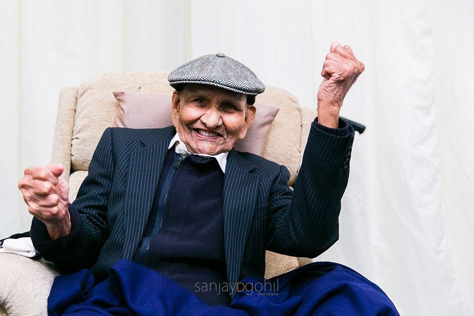 Grandfather dancing