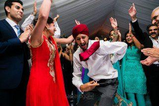 Asian wedding reception party
