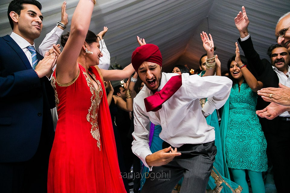 Asian wedding reception party