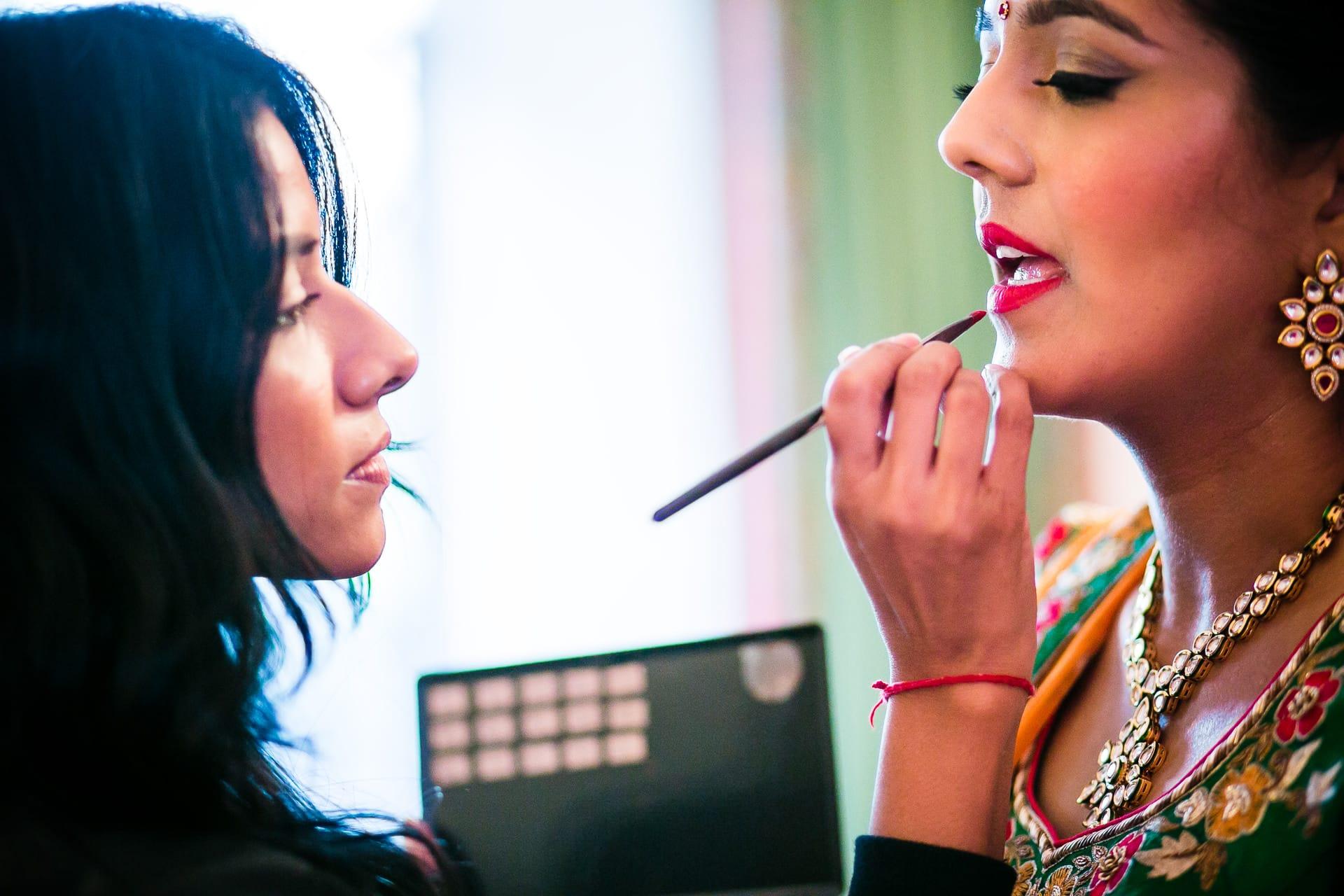 Hindu Bride getting ready