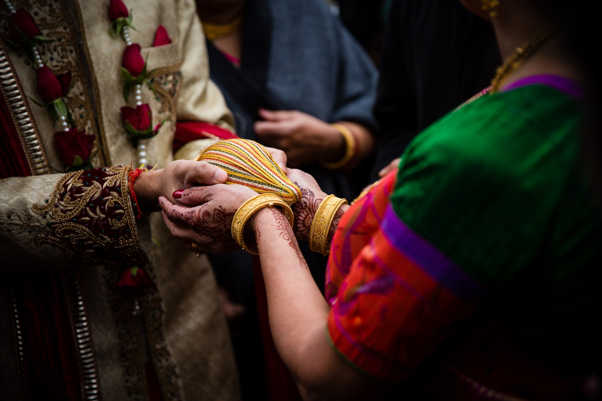 Exchanging of coconuts during Hindu wedding