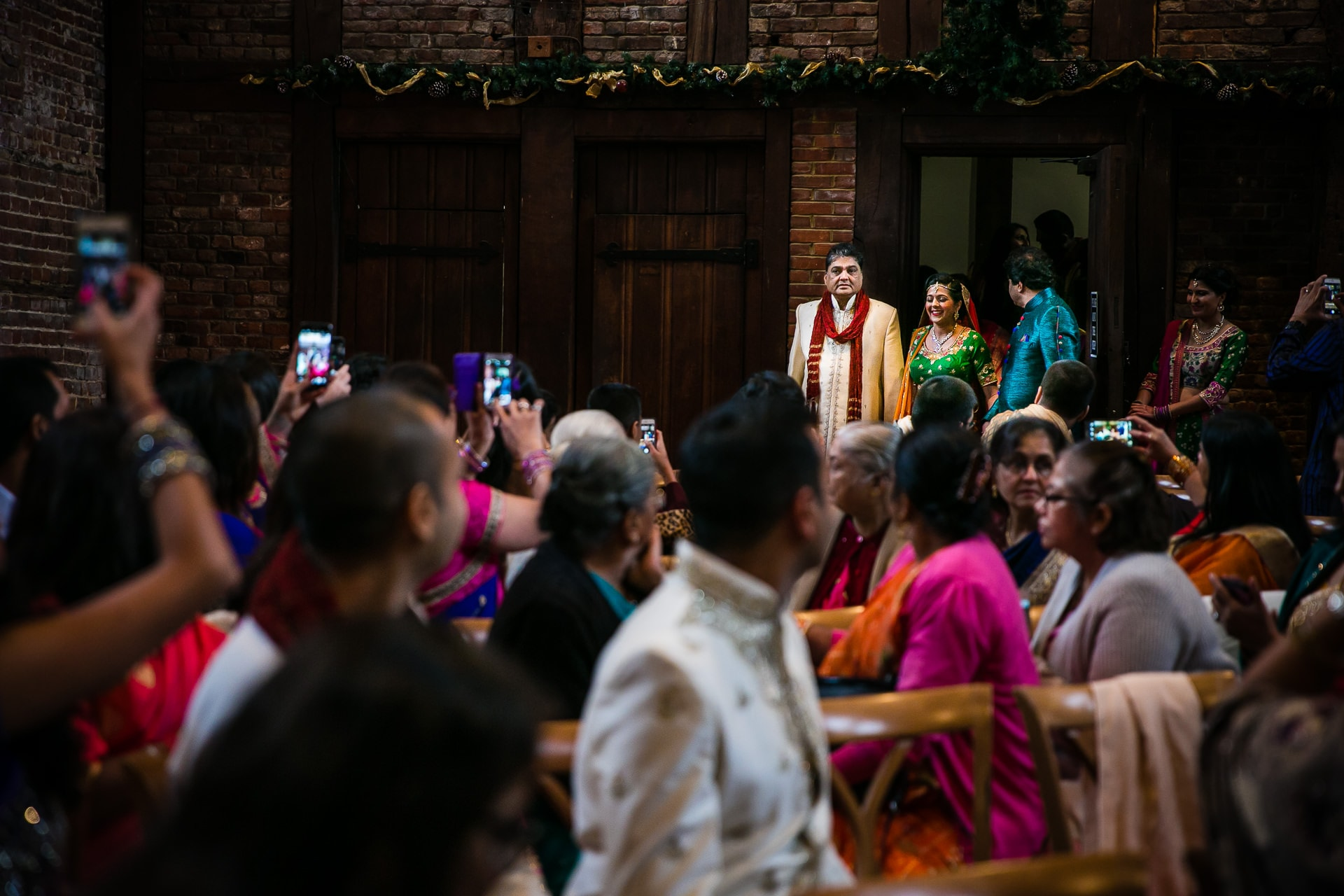 Bridal entrance during Hindu wedding
