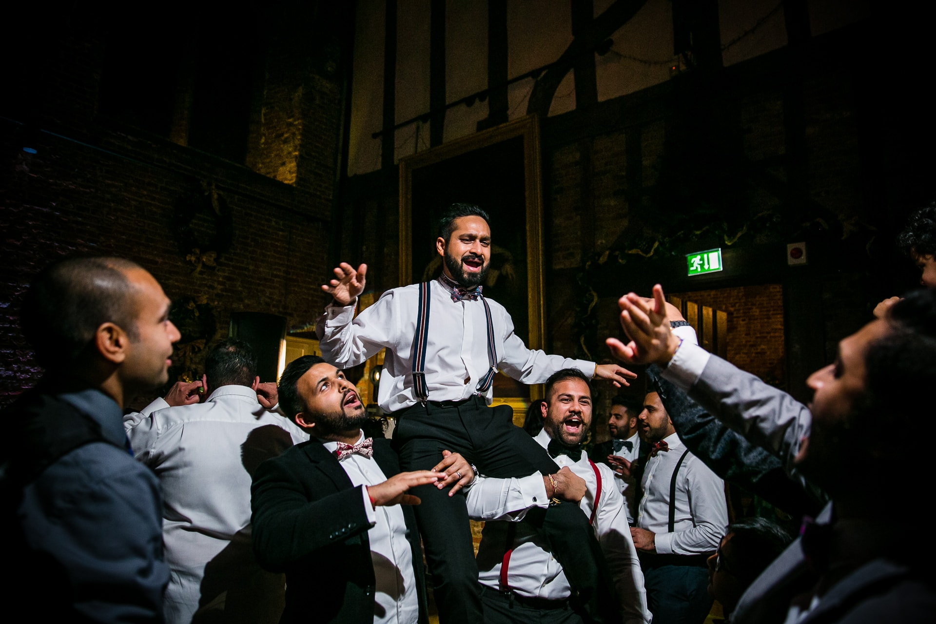 Asian wedding reception party at Hatfield House