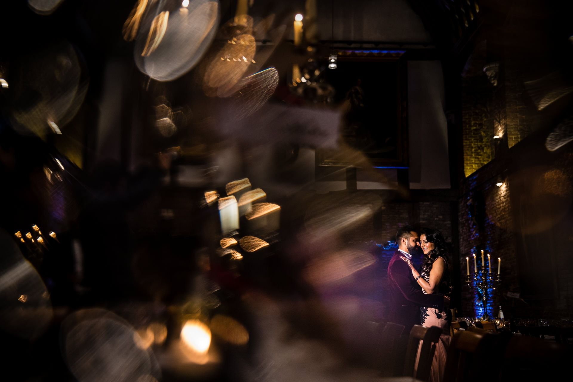 Asian Wedding portrait inside Hatfield House