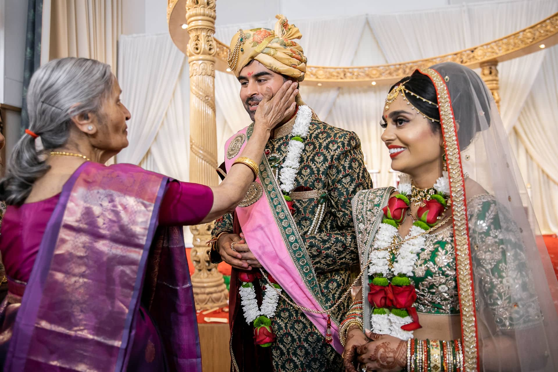 Vidhai ceremony after Asian wedding
