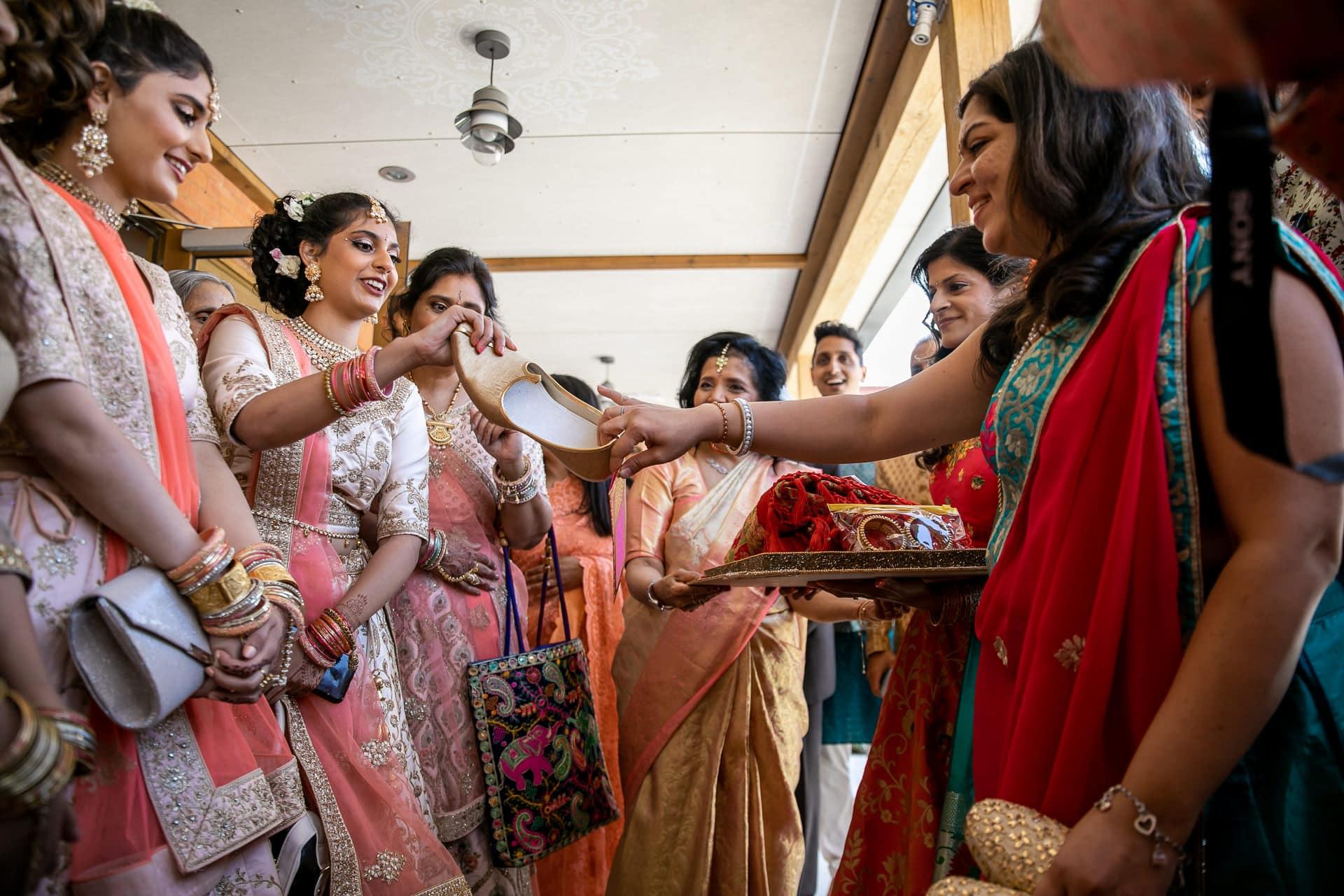 Shoe trading after Hindu wedding