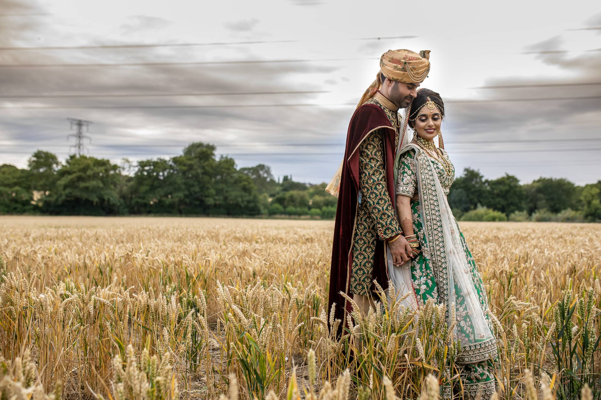 Asian Bride and Groom portrait