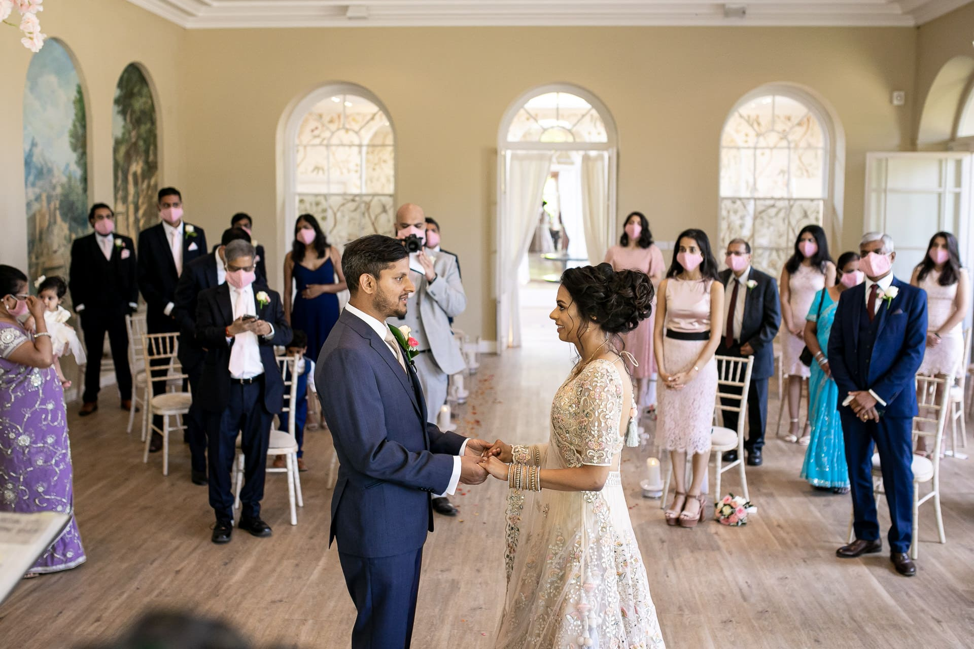 Civil wedding ceremony at Braxted Park