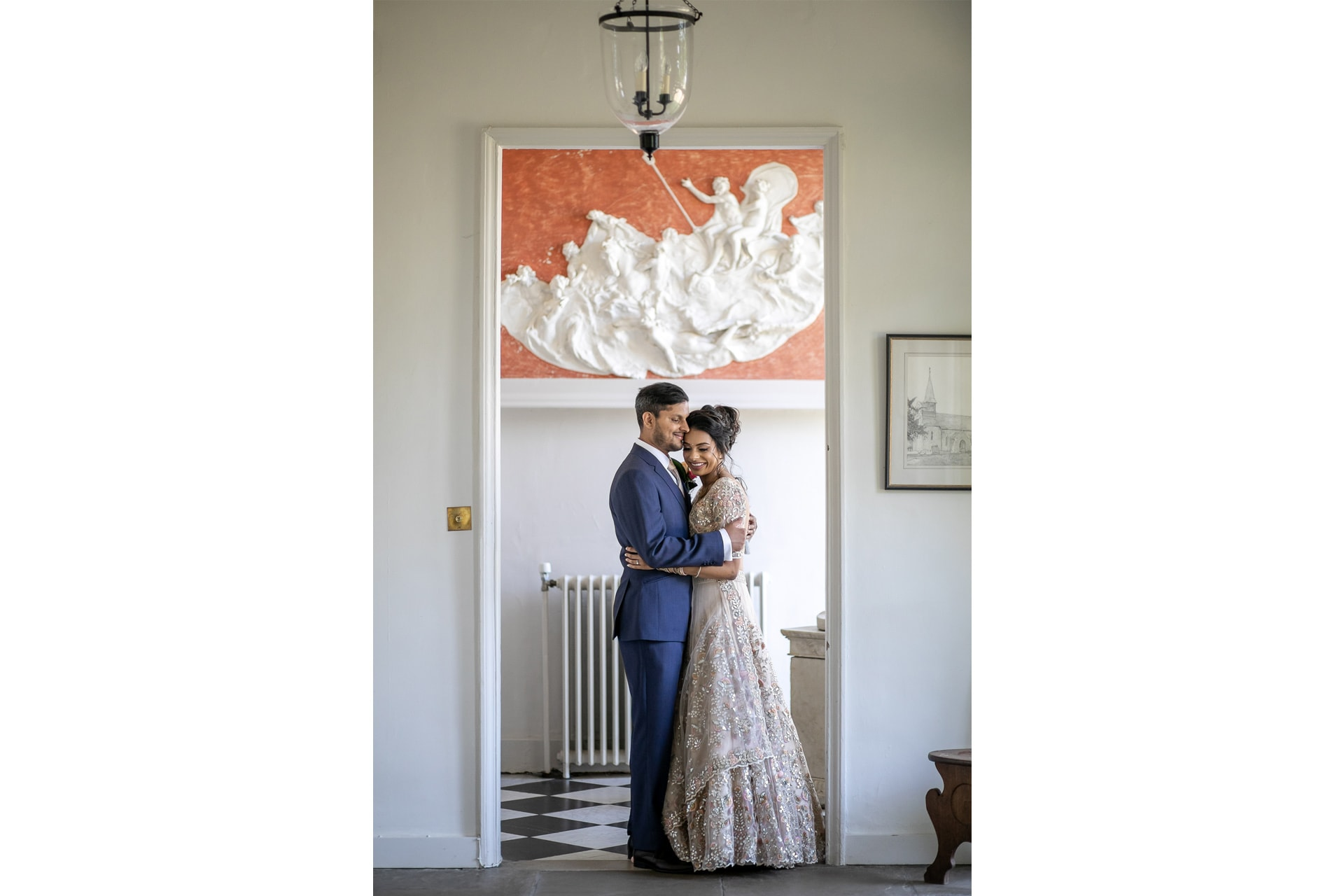 Wedding portrait at Braxted Park