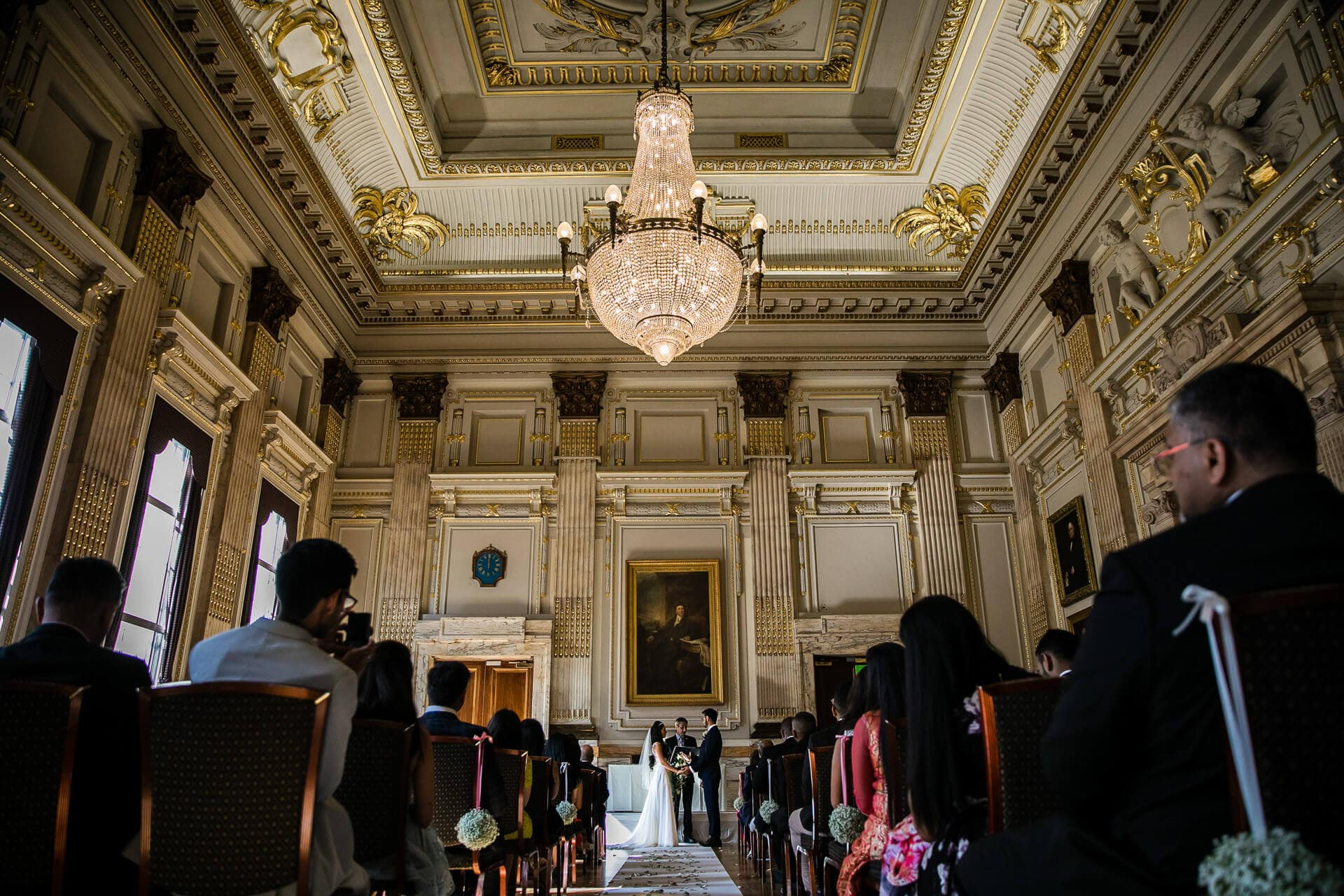Civil registry wedding at the Institute of Directors, London
