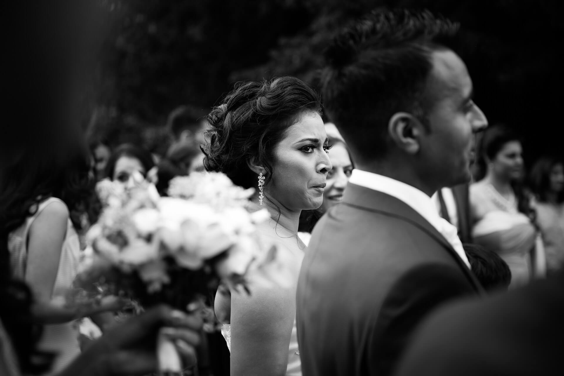 Asian wedding bride's reaction to speeches