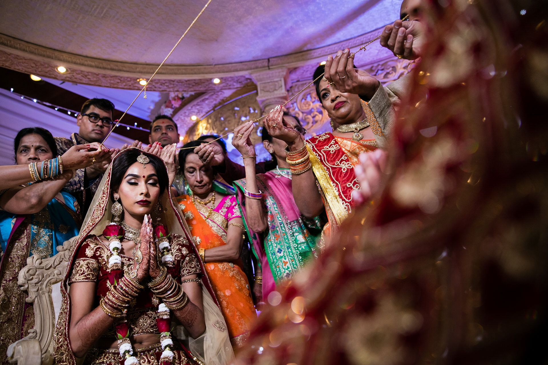Hindu Bride during Gujarati wedding ceremony