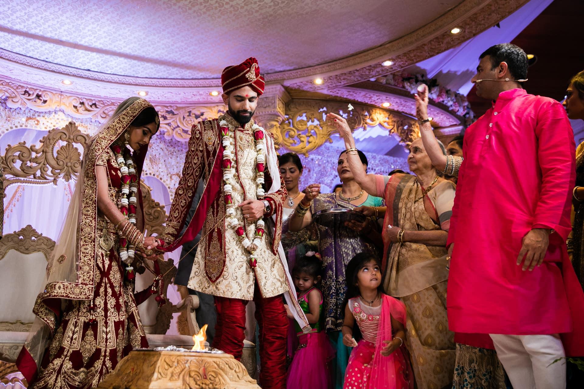 Phera ceremony during Hindu Wedding