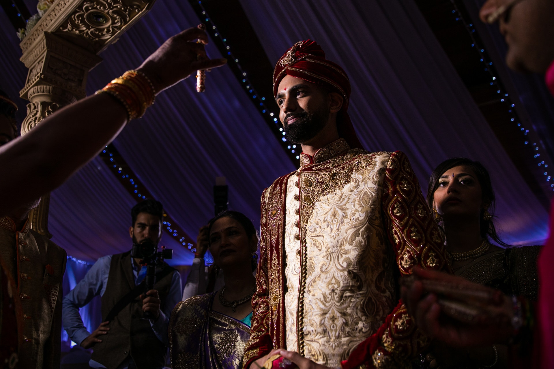 Groom welcoming ceremony