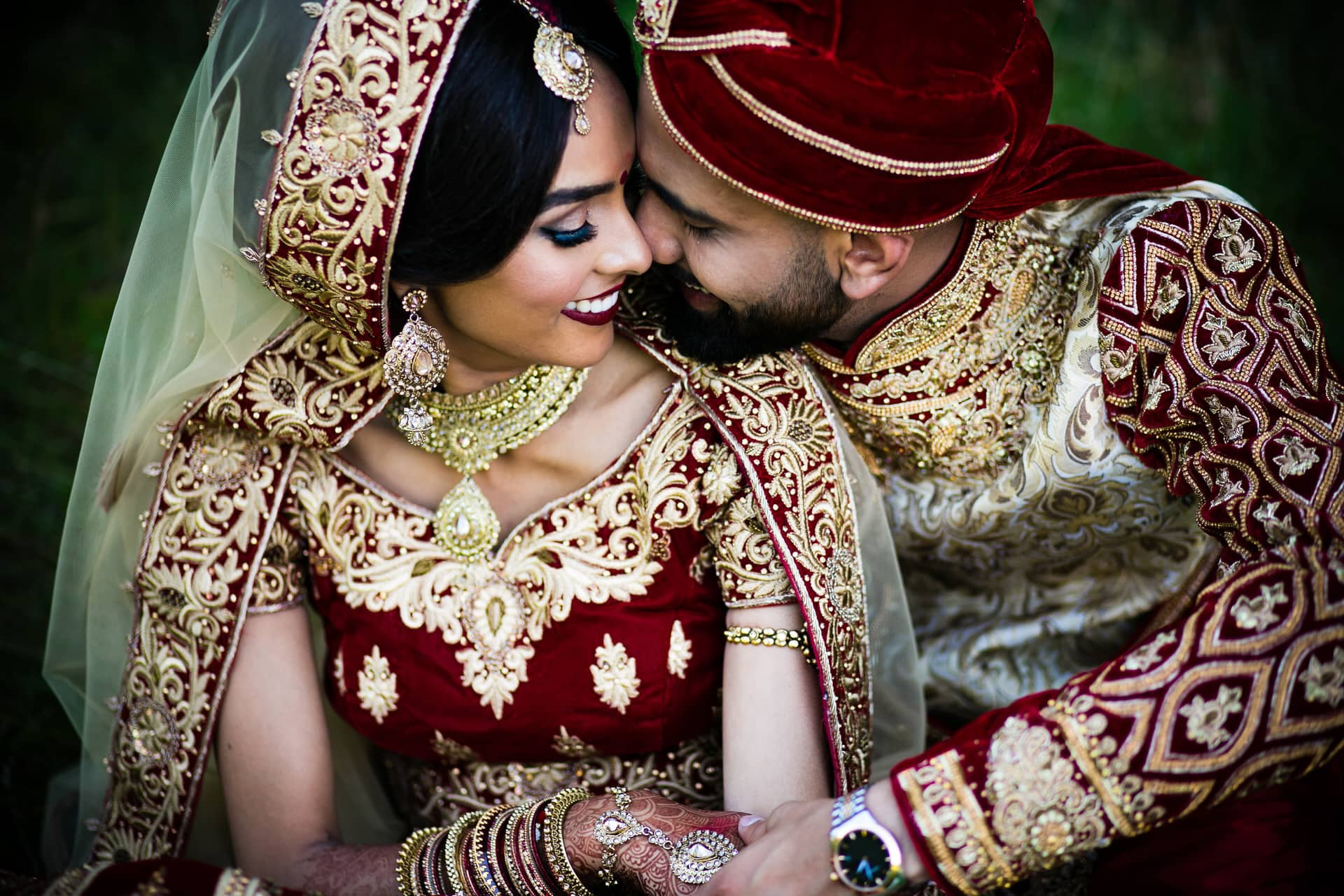 Asian Wedding portrait at Copthorne Effingham Parl