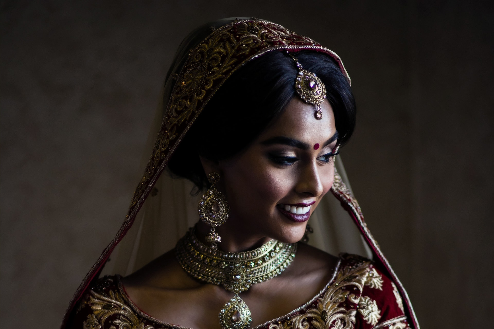 Asian Wedding Bride Portrait