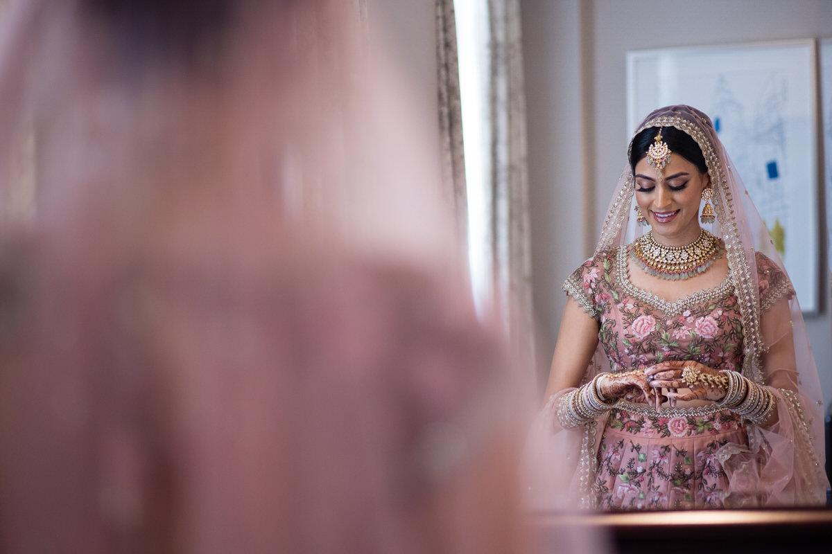 Hindu wedding Bride getting ready
