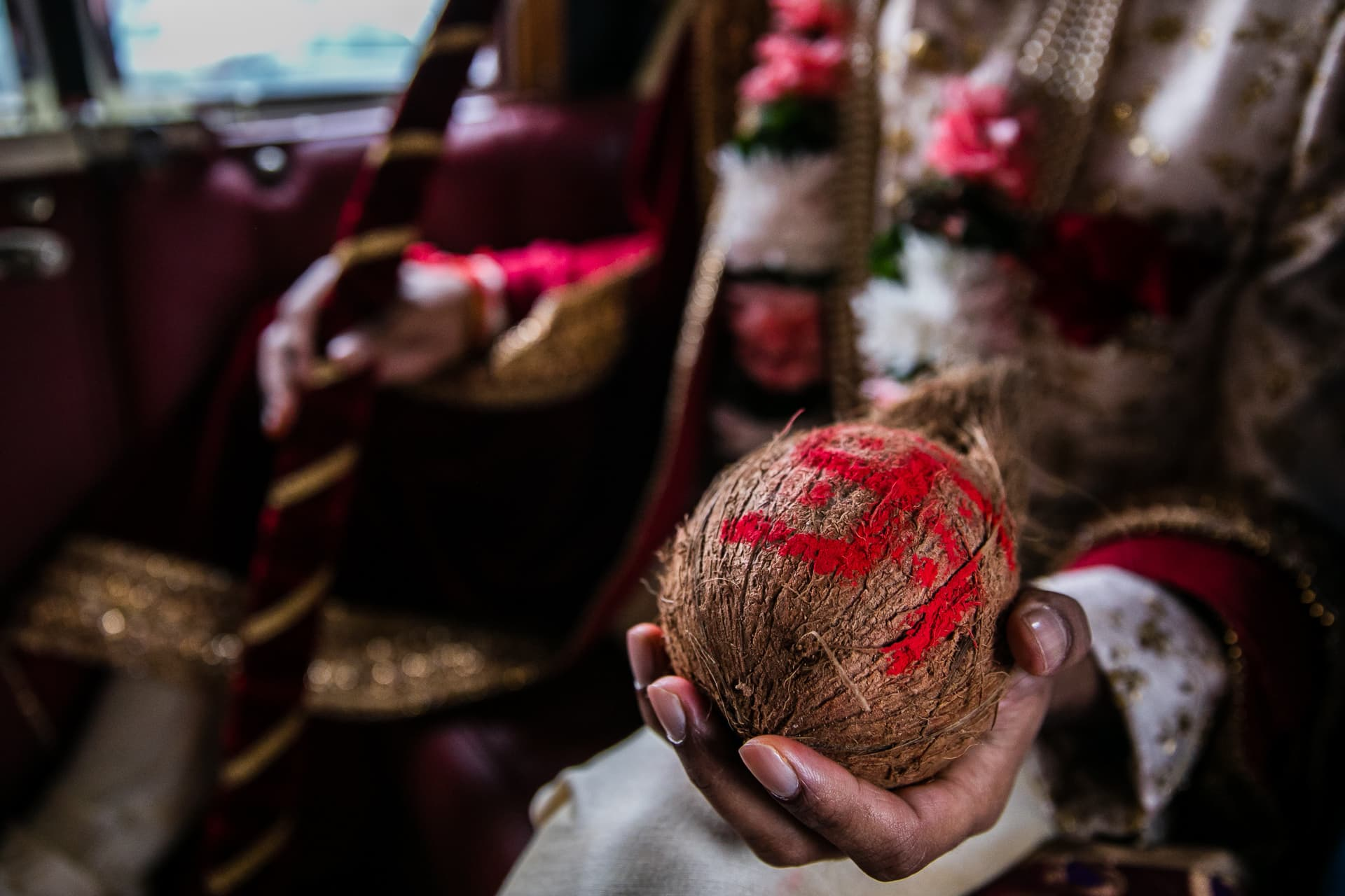 Asian wedding coconut