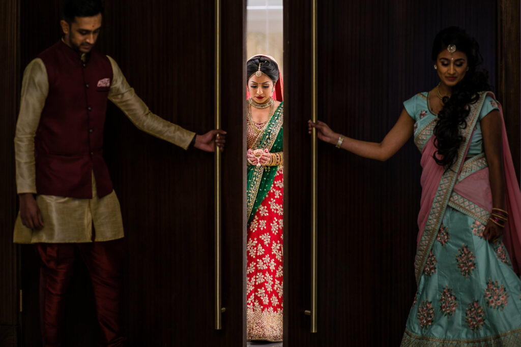 Asian wedding bride entry
