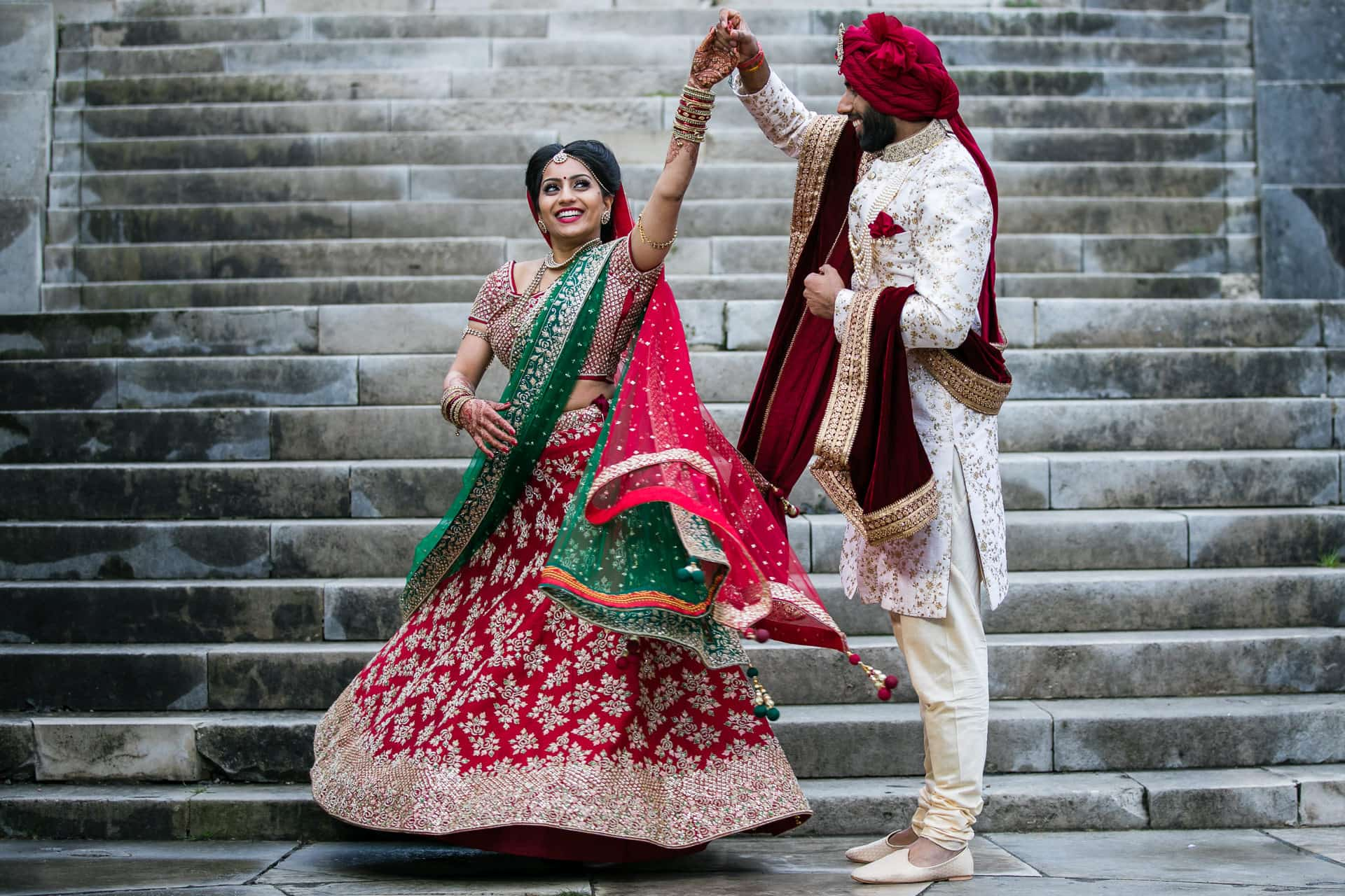 Hindu wedding portrait