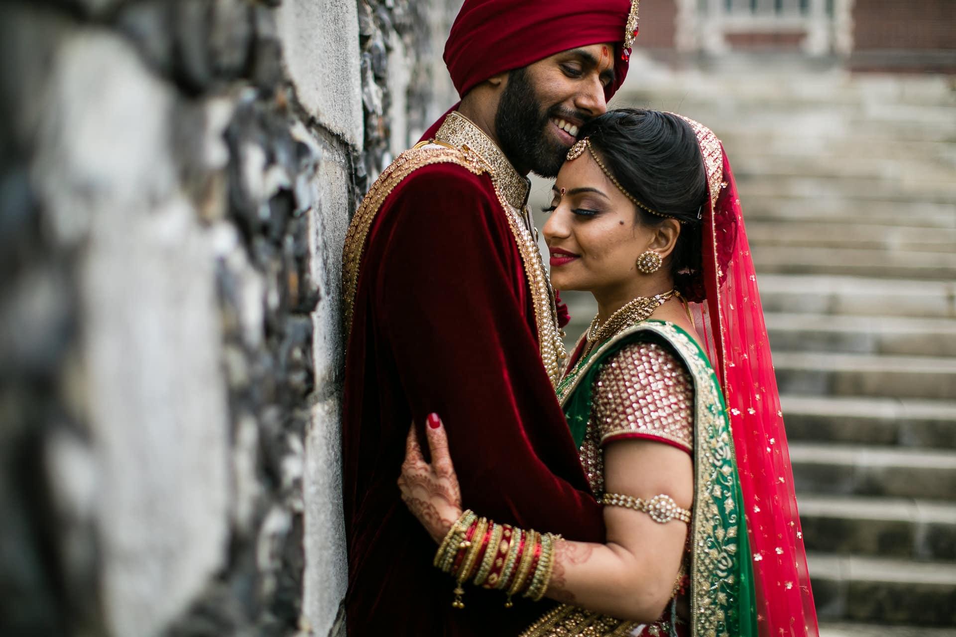 Hindu wedding portrait