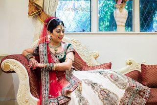 Hindu Bridal portrait at Hare Krishna Mandir in Watford