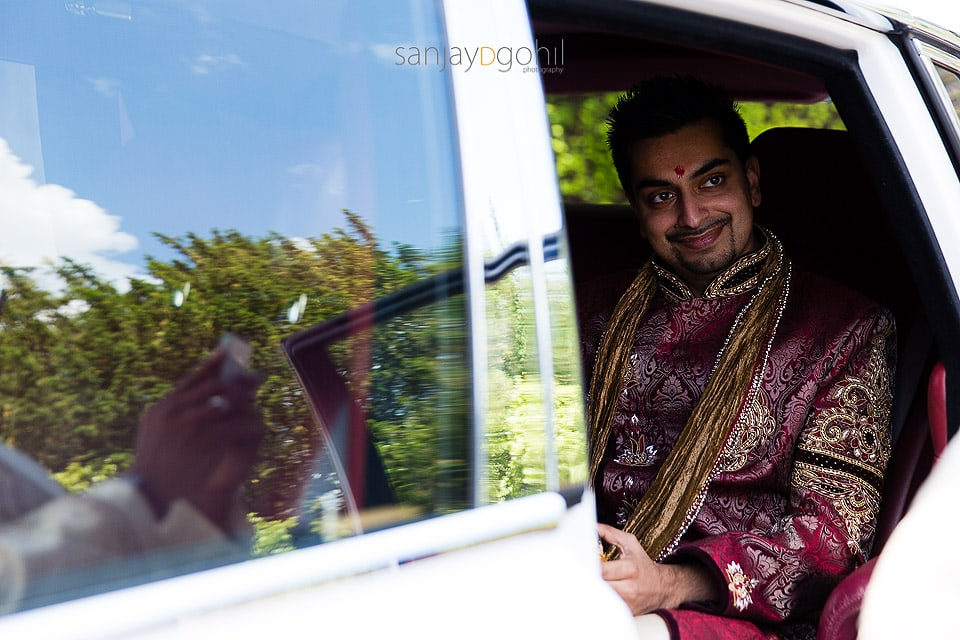Hindu Wedding groom at Bhaktivedanta Manor