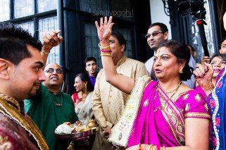 Hindu Wedding welcoming ceremony