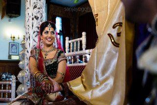 Asian Wedding Bride smiling