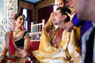 Wedding inside Hare Krishna Mandir