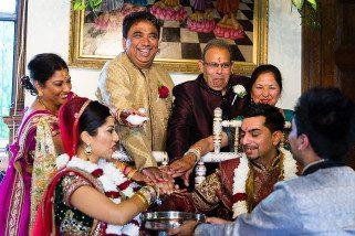 Hindu Wedding ceremony at Hare Krishna Mandir