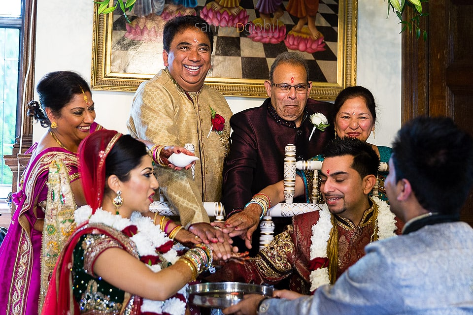 Hindu Wedding ceremony at Hare Krishna Mandir