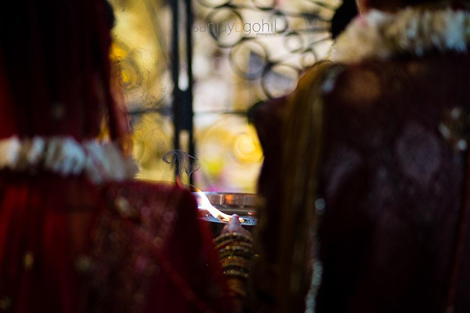 Closeup of flame during arti
