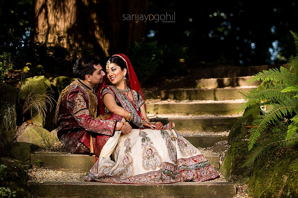 Hindu Wedding Portrait at ISKCON Bhaktivedanta Manor Hare Krishna Temple Watford