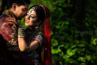 Hare Krisha Mandir Wedding Portrait